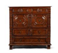 A Charles II oak chest of drawers, circa 1680