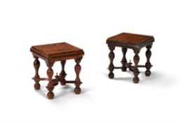 A pair of William III yew stands