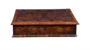 A William and Mary olive-wood oyster veneered lace box, circa 1690