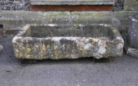 A large carved limestone trough