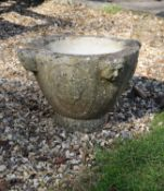 A Continental sculpted white marble mortar