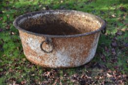 A large cast iron planter by Ransomes of Ipswich