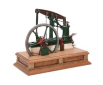 An exhibition standard model of a 1/12th scale Sanderson's 12 h.p. Beam Engine