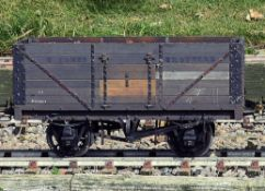 A 5 inch gauge coal wagon painted and sign written 'T.Ignis Brothers'