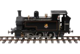 An exhibition standard model of a 5 inch gauge 0-6-0 tank locomotive No 7248
