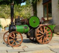 A freelance approximate 4 inch scale model of an agricultural traction engine