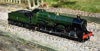 An exhibition standard 5 inch gauge model of the GWR 4-6-0 Saint Class tender locomotive
