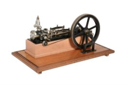 A well engineered model of a mid 19th century single cylinder 'Victoria style' horizontal live steam