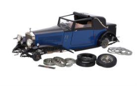 A partly built Pocher model of a Rolls Royce 1932 Phantom II Drop Head Sedanca Coupe