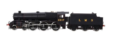 A gauge 1 model of a Class 5MT Stanier 'Black 5' tender locomotive No 5217