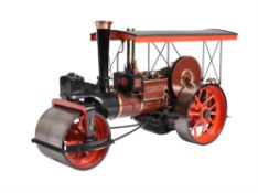 An exhibition standard 2 inch scale model of a Burrell 8ton Road Roller