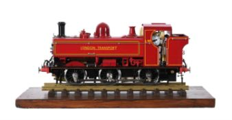 A gauge 1 live steam model of the London Transport (exGWR) 0-6-0 PT No L 90 Pannier tank locomotive