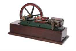 A period model of a live steam horizontal mill engine