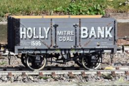 A 5 inch gauge private owner seven plank coal wagon 'Holly Bank. Essington'