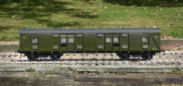A 5 inch gauge Southern Railway 57 bogie luggage van No 2339 being fully detailed