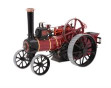 An exhibition standard 1 1/2 inch scale model of a Burrell agricultural traction engine