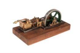 A model live steam horizontal mill engine