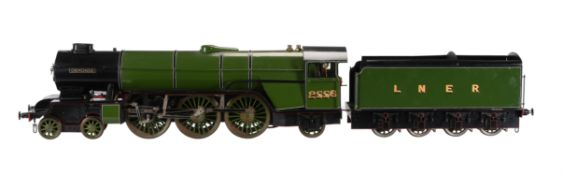 A 3 1/2 inch gauge model of a LBSC design 'Heilan Lassie' 4-6-2 tender locomotive No 2556