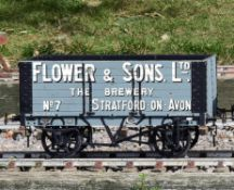 A 5 inch gauge seven plank coal wagon 'Flower & Sons Ltd. Stratford on Avon'