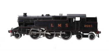 An 0 gauge model of a LMS 2-6-4 side tank locomotive No 2603
