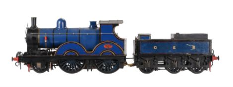 3 1/2 inch gauge model of a Great Eastern Railway 2-4-0 'Petrolea' tender locomotive