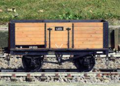 A 5 inch gauge coal wagon