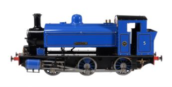 A well engineered 7 1/4 inch gauge model of a 0-6-0 saddle tank locomotive No 5 'Holmside'