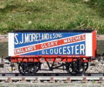 A 5 inch gauge seven plank coal wagons built by Messrs Bath Wagon Works 'S J Moreland & Sons', Glouc