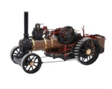 An exhibition standard 1 inch scale model of an agricultural ploughing engine