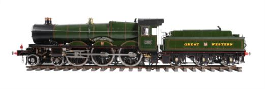 An exhibition 5 inch gauge model of a Great Western Railway Castle Class 4-6-0 tender locomotive