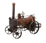 A fine 19th century museum standard model of an early British live steam agricultural traction engin