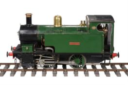 A well-engineered 5 inch gauge model of a 0-4-0 side tank locomotive 'Chippy'