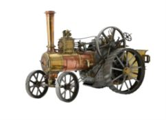 A well engineered 1 1/2 inch scale model of a Burrell agricultural traction engine