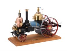 An exhibition model of the first steam fire engine built for New York City in 1840