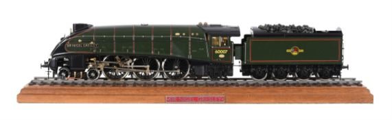 A gauge 1 live steam model of the British Railway 4-6-2 tender locomotive No 60007 'Sir Nigel Gresle