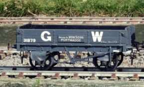 A 5 inch gauge Great Western Railway coal wagons built by Messrs Bath Wagon Works