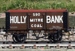 A 5 inch gauge seven plank coal wagon
