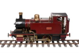 A well-engineered 5 inch gauge model of a 0-4-0 side tank locomotive 'Ajax'