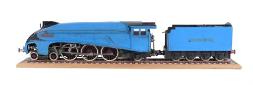 A rare restoration project model of a 3 1/2 inch gauge A4 LNER 4-6-2 tender locomotive 'Silver Fox'