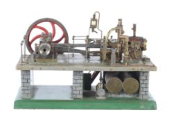A period model of a live steam mill engine