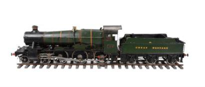 A 5 inch gauge model of a 4-6-0 Great Western Manor class tender locomotive No 7876 'Barton Manor'