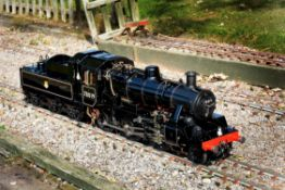 An exhibition standard 5 inch gauge model of the British Railway 2MT 2-6-0 tender locomotive