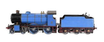 A well engineered 3 1/2 inch gauge model of a 4-4-0 tender locomotive No 2