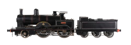 A well engineered 3 1/2 inch gauge model of 2-4-0 Hardwick tender locomotive No 1306