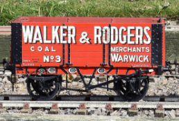 A 5 inch gauge seven plank coal wagon Walker & Rogers. Warwick. Hand built