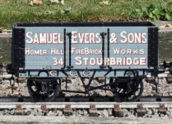 A 5 inch gauge seven plank coal wagon Samual Evers & Sons Stourbridge