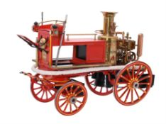 An exhibition standard model of a Shand Mason horse drawn fire engine