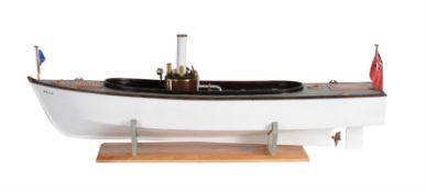 A fine live steam model of 'Belle' a freelance open steam launch