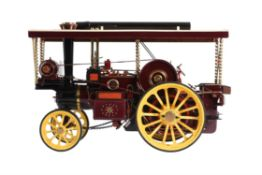 An exhibition standard 2 inch scale model of a Burrell showman's tractor