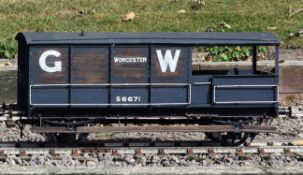 A 5 inch gauge Great Western Railway 20 ton brake van